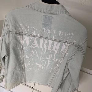 Billabong 100% cotton jeans jacket denim warhol